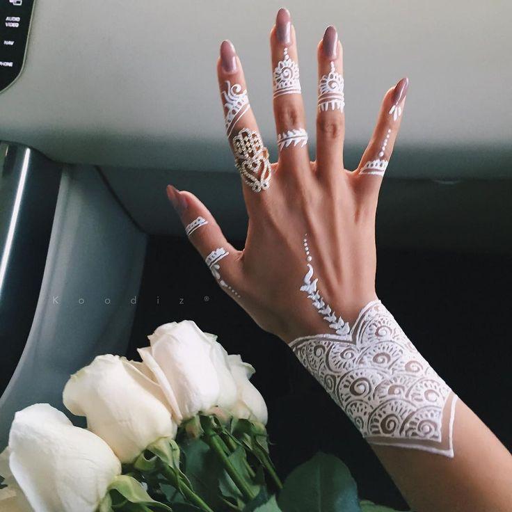 White henna pattern                                                                                                                                                     More