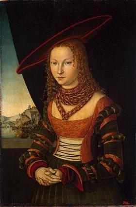 Портрет женщины - Лукас Кранах Старший