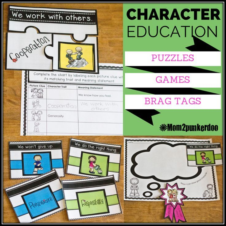 Character Education: Posters, Games, Graphic Organizers, Brag Tags+