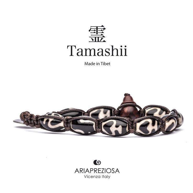 """Tamashii - Serie Speciale BkraShi realizzato con pietre naturali Onice con disegno tradizionale a mano dal significato """"PASSIONE"""""""