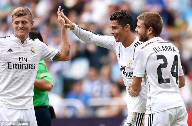 Toni Kroos and Crisitano Ronaldo sept 20/14