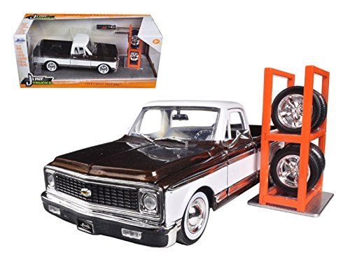 1972 Chevrolet Cheyenne Pickup Truck Brown 'Just Trucks' with Extra Wheels 1/24 Model Car by Jada ** You can find more details by visiting the image link. (This is an affiliate link and I receive a commission for the sales)