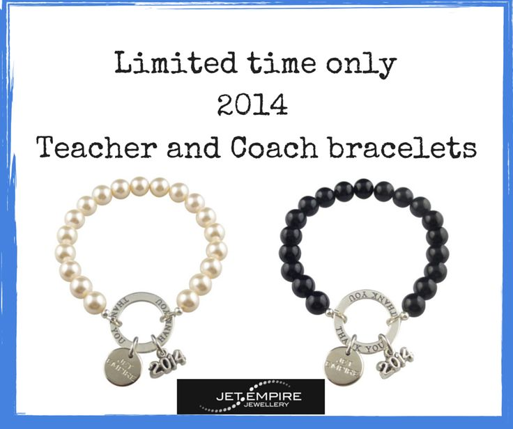 [LIMITED TIME ONLY] Our Teacher and Coach bracelets have just been released for 2014. Shop here: http://www.jetempire.com.au/collections/teacher-and-coach-bracelets