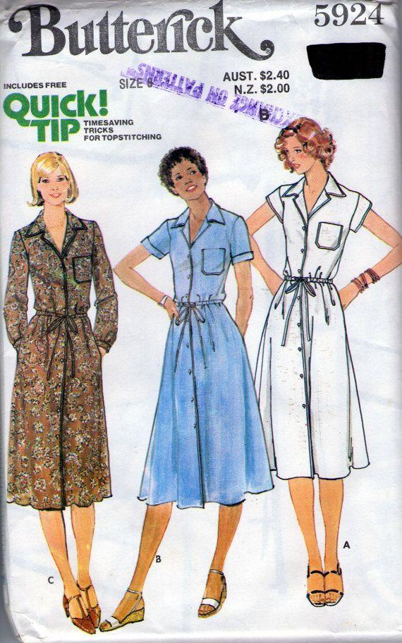 Ladies shirt dress pattern shirtwaister by BananaOrangeApple
