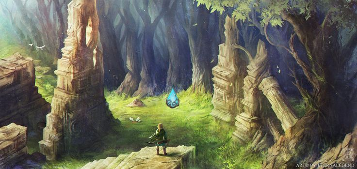 I've been working on this on and off for a good while now. Zelda Wii U concept art done for fun based on the idea of an open Forest Temple. Inspired by the latest gameplay (starting around the 2:25...