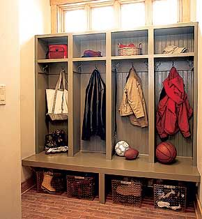 cubbies for coats, baskets for shoes