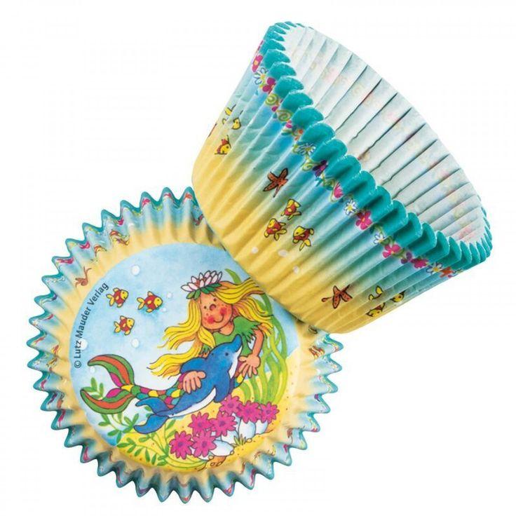 zeemeermin cupcake, zeemeermin traktatie