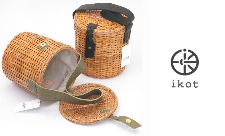 【楽天市場】20%オフ セール イコット ikot かご バッグ バケツ型 バスケット 蓋付き ラタン レディース ik217029:DANJO バッグ、財布、靴の通販