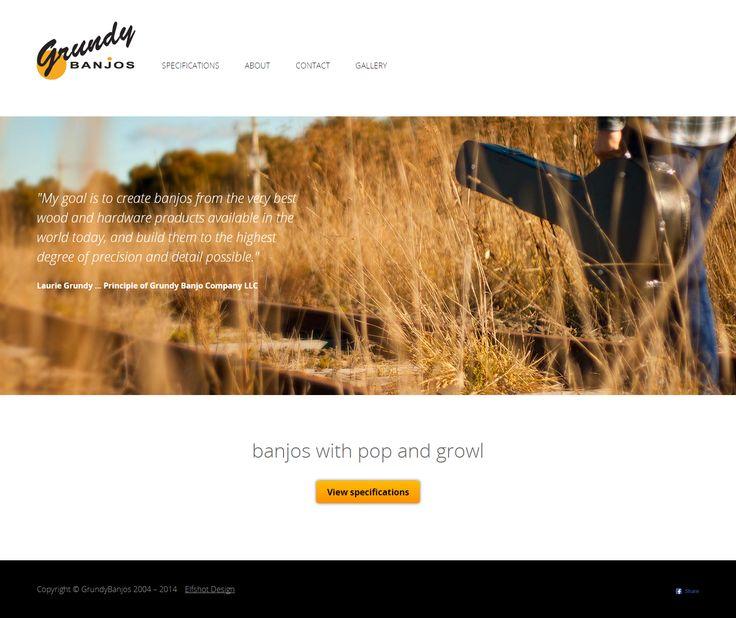 Grundy Banjos | from Elfshot Web Design Folio