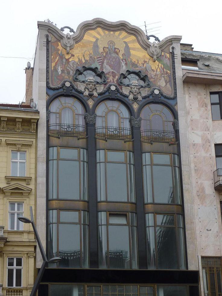 891 best art nouveau facades images on pinterest. Black Bedroom Furniture Sets. Home Design Ideas