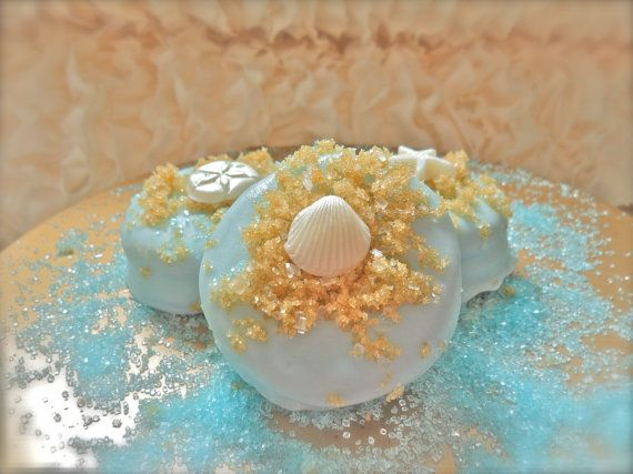 Edible Wedding Favors Beach Seashells Chocolate Dipped oroes Frost The Cake on Etsy, $24.00