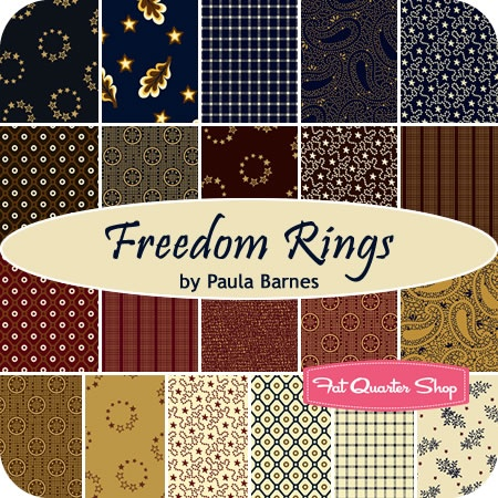 FREEDOM RINGS by Paula Barnes for Marcus FabricsFat Quarter