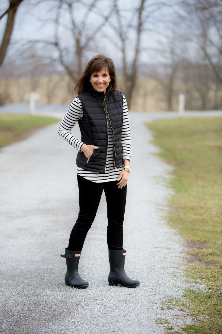 BLACK QUILTED VEST-A WARDROBE STAPLE