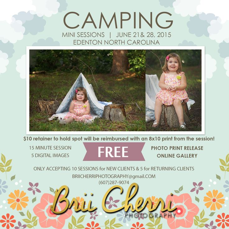 Giving Back : FREE CAMPING MINI SESSIONS : Edenton North Carolina — Wedding Photography: North Carolina: Edenton : Brii Cher'ri Photography