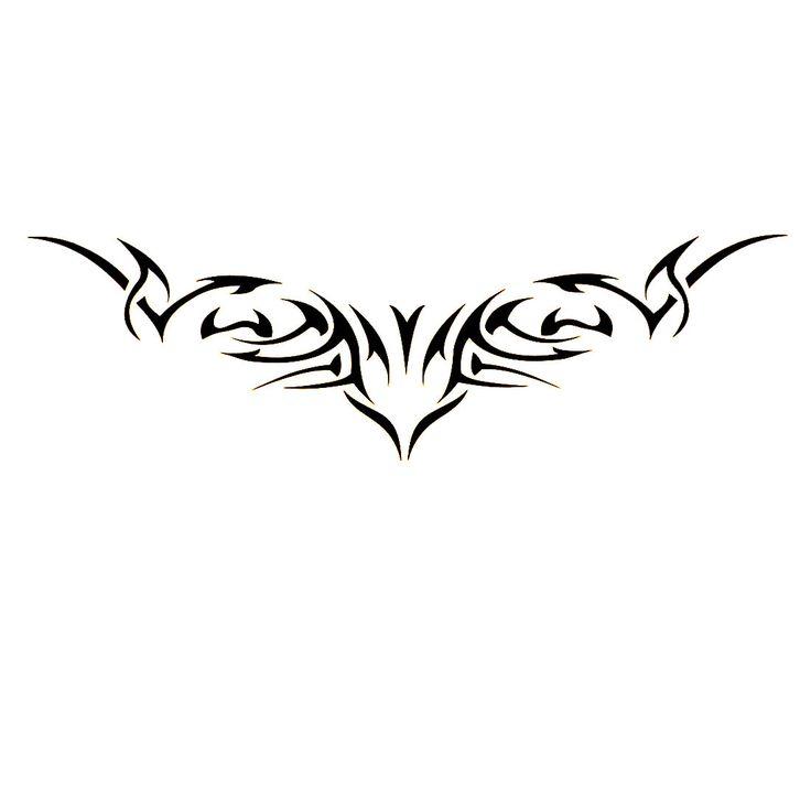 Black Flame Design Transfer Tribal Tattoos Seal Skin Beauty Decal