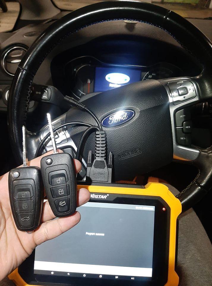 Ford S Max 2015 Double Key Made By Obdstar X300 Dp Plus Ecu Key