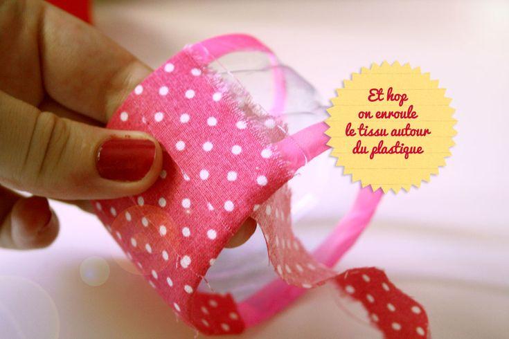DIY : recycler sa bouteille plastique en bracelet | Poulette Magique