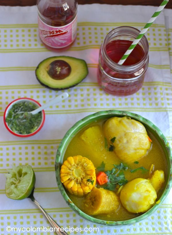 Sancocho de Gallina (Chicken or Hen Sancocho) |mycolombianrecipes.com