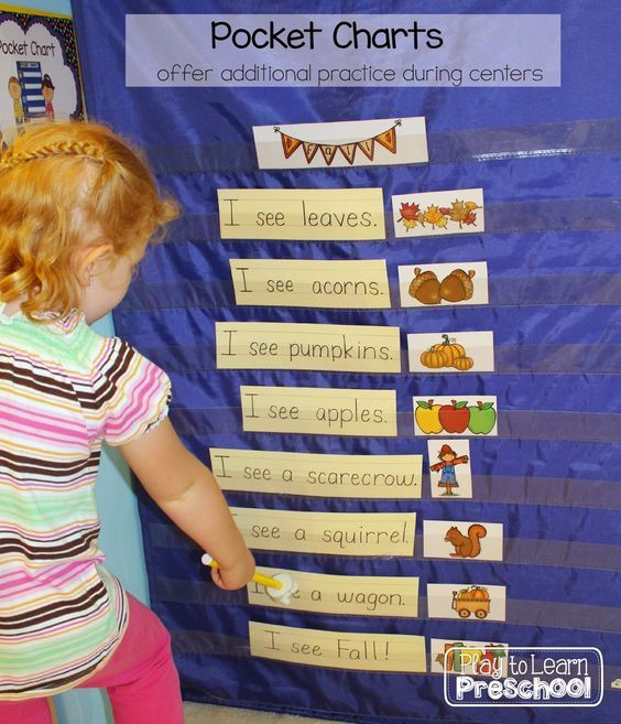 Using Pocket Charts in Preschool Classroom to Develop Concept of Word