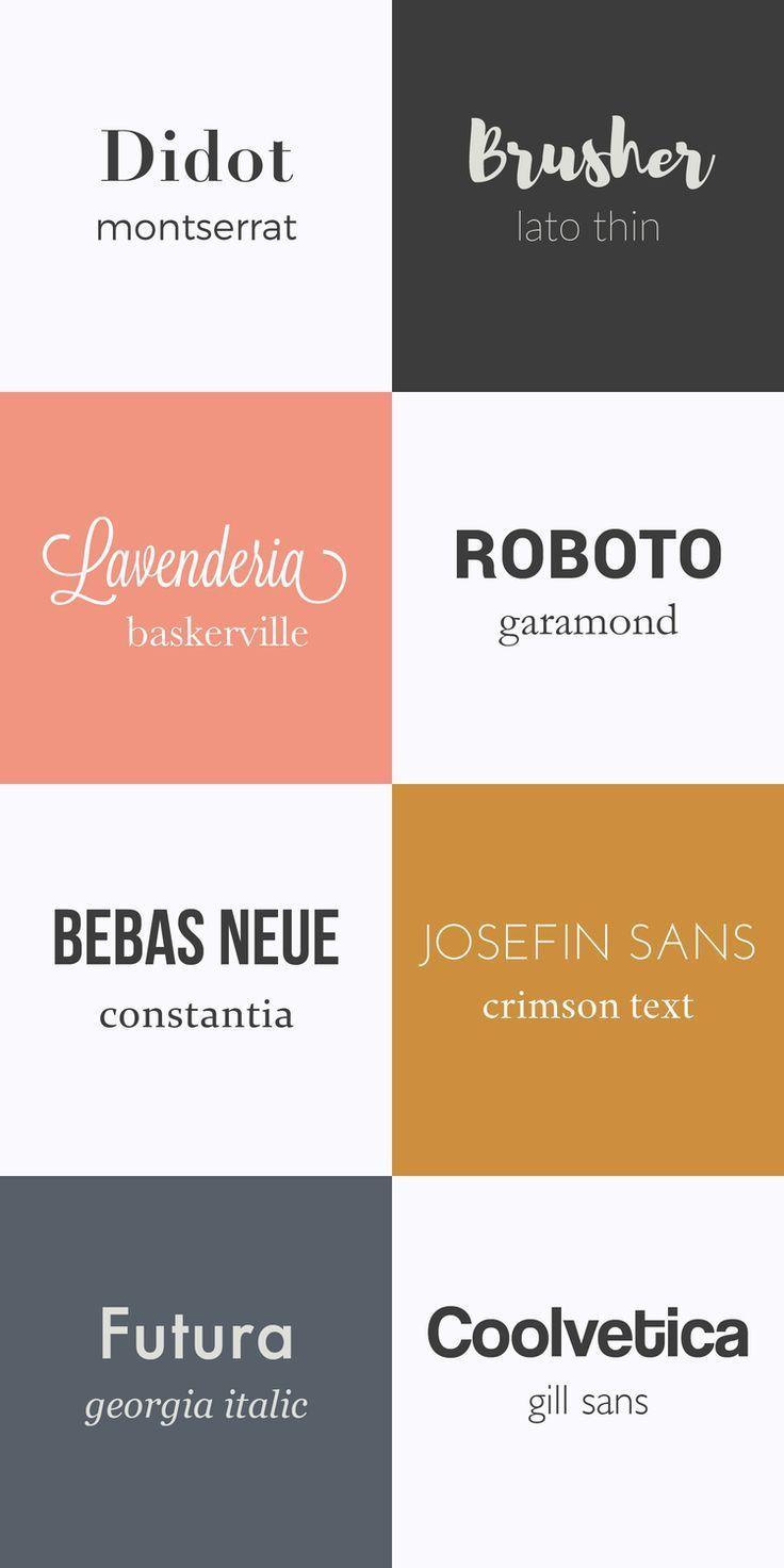 Combinaison Typographie Polices Typographiques Design Typographique Typographie
