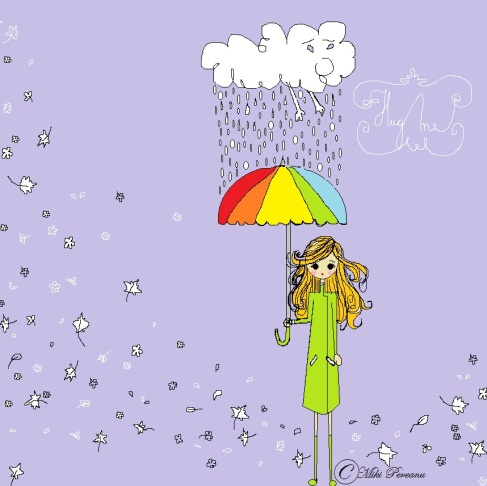 Sometimes, when it rains, I imagine the clouds crying for a hug. So I dance…Then the rainbow remembers to bow to the rain and clouds suddenly feel lighter.