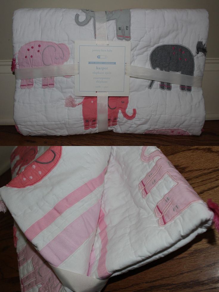 Quilts and Coverlets 180908: Nwt Pottery Barn Kids Harper Elephant Nursery Toddler Crib Quilt Light Pink Gray -> BUY IT NOW ONLY: $50.97 on eBay!