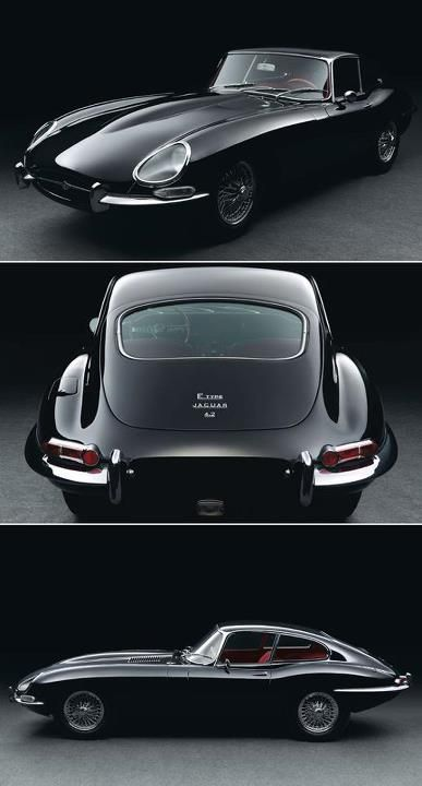1966 Jaguar E-Type Series I 4.2 Fixed Head Coupé. 265 bhp, 4,235 cc DOHC inline six-cylinder engine, triple SU carburettors, four-speed manual gearbox, independent front suspension with double wishbones, torsion bars and anti-roll bar, independent rear suspension with lower wishbones, trailing lower radius arms, coil springs, anti-roll bar, and four-wheel hydraulic disc brakes, inboard at the rear. Wheelbase: 96""