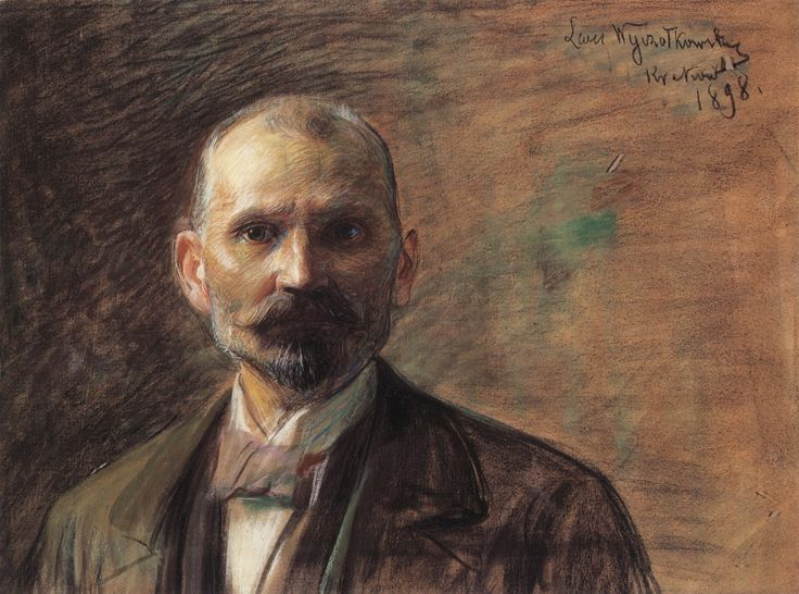 Self-Portrait of Leon Wyczółkowski (1852-1936), pastel on paper glued to canvas, 53x71, Lviv Art Gallery