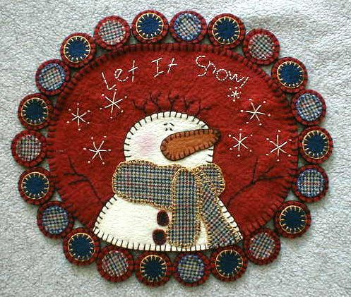 Free Wool Penny Rug Patterns | embroidery hand dyed wool free applique patterns free applique designs ... How to work in some plaids