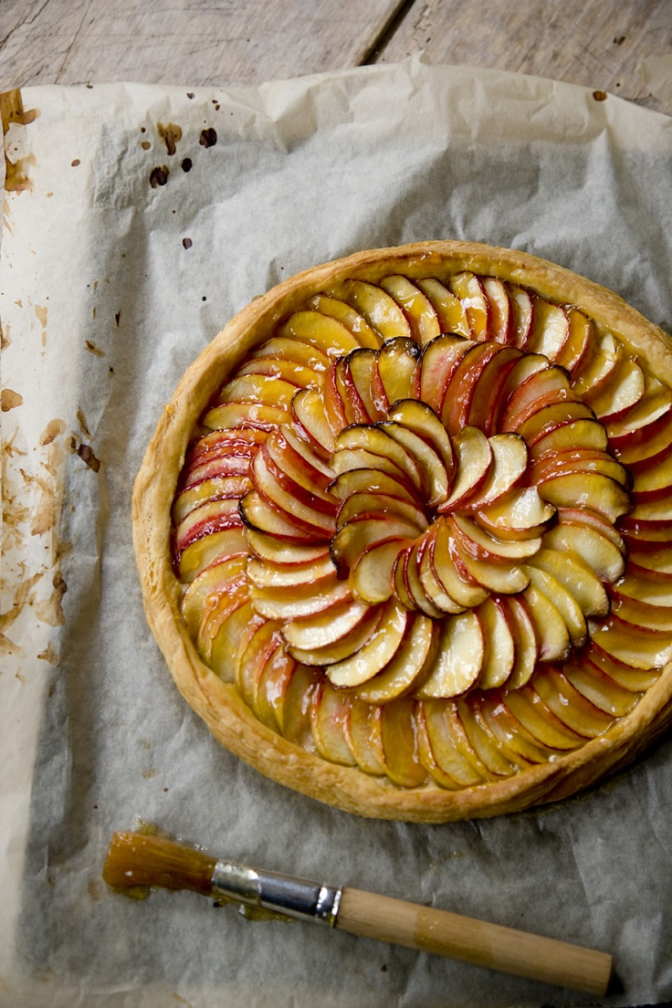 Tarte aux Pommes Fines by Harry Eastwood from The Skinny French Kitchen #baking #cakes #skinny Photograph (c) Laura Wilson