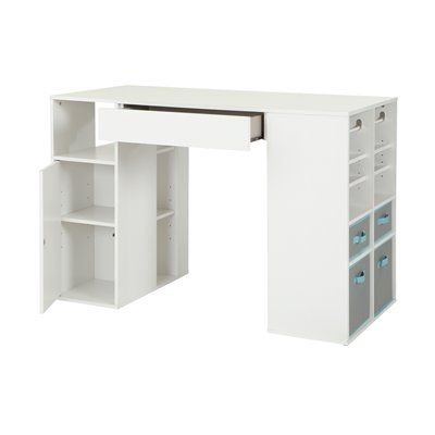 South Shore Furniture 7550729 Crea Counter Height Storage Craft Table
