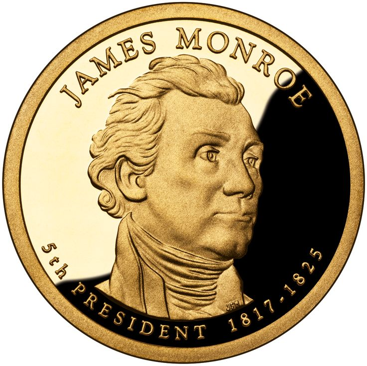 James Monroe 2008 US Presidential One Dollar Coin