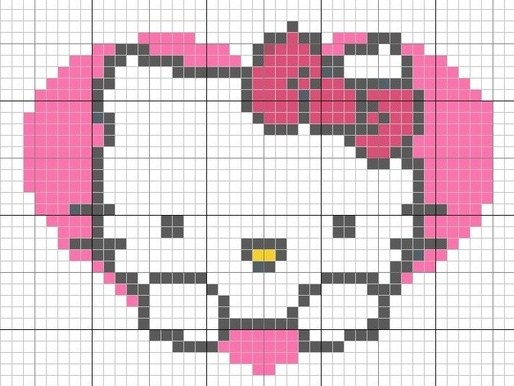 valentines hello kitty cross stitch chart