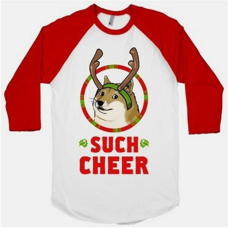 Such Holiday spirit! This #doge t-shirt is just the thing to wear under your ugly #Christmas sweater this year. http://ift.tt/2hnT8xy