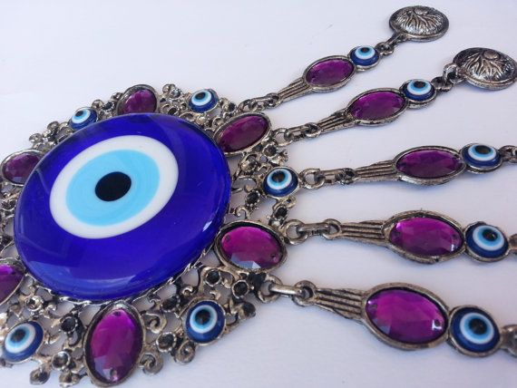 wall hanging evil eye wall decorlucky evile by EvilEyeAndPeshtemal, $20.00