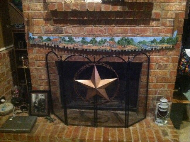 Two Man Crosscut Saw Above The Fireplace By Bea Hardin