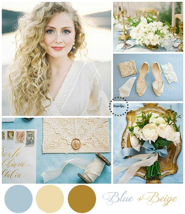 Голубая свадьба_Blue and beige wedding pallette | more on www.bridetips.ru