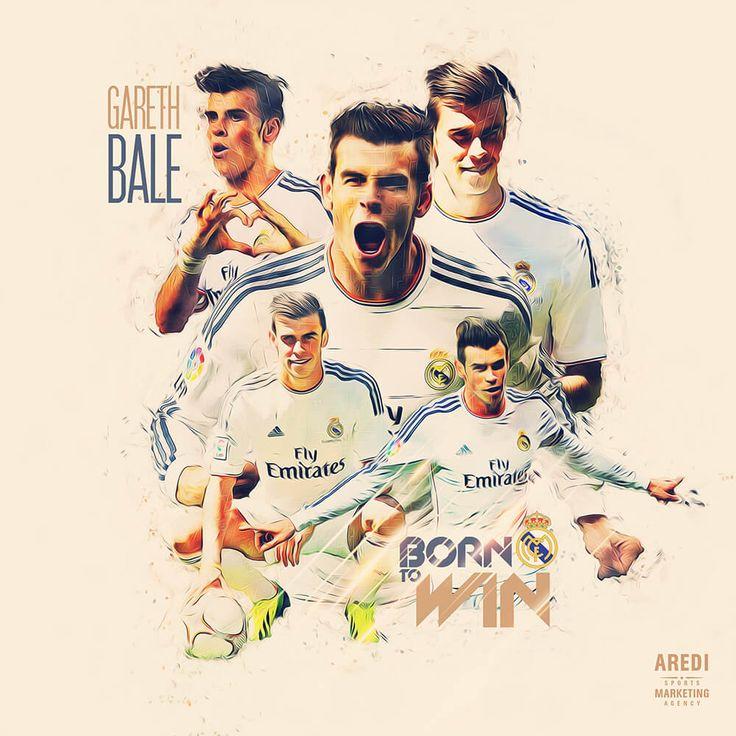 Gareth Bale, Real Madrid, football, sport, illustration, poster, design, sports media, soccer, graphic, social, AREDI