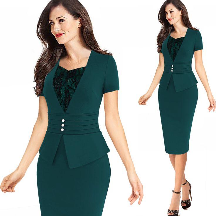 Elegant Peplum Dresses //Price: $36.98 & FREE Shipping //     #womensfashion
