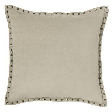 "Studded Velvet Pillow Cover  - Putty (20""  Sq.) #westelm"
