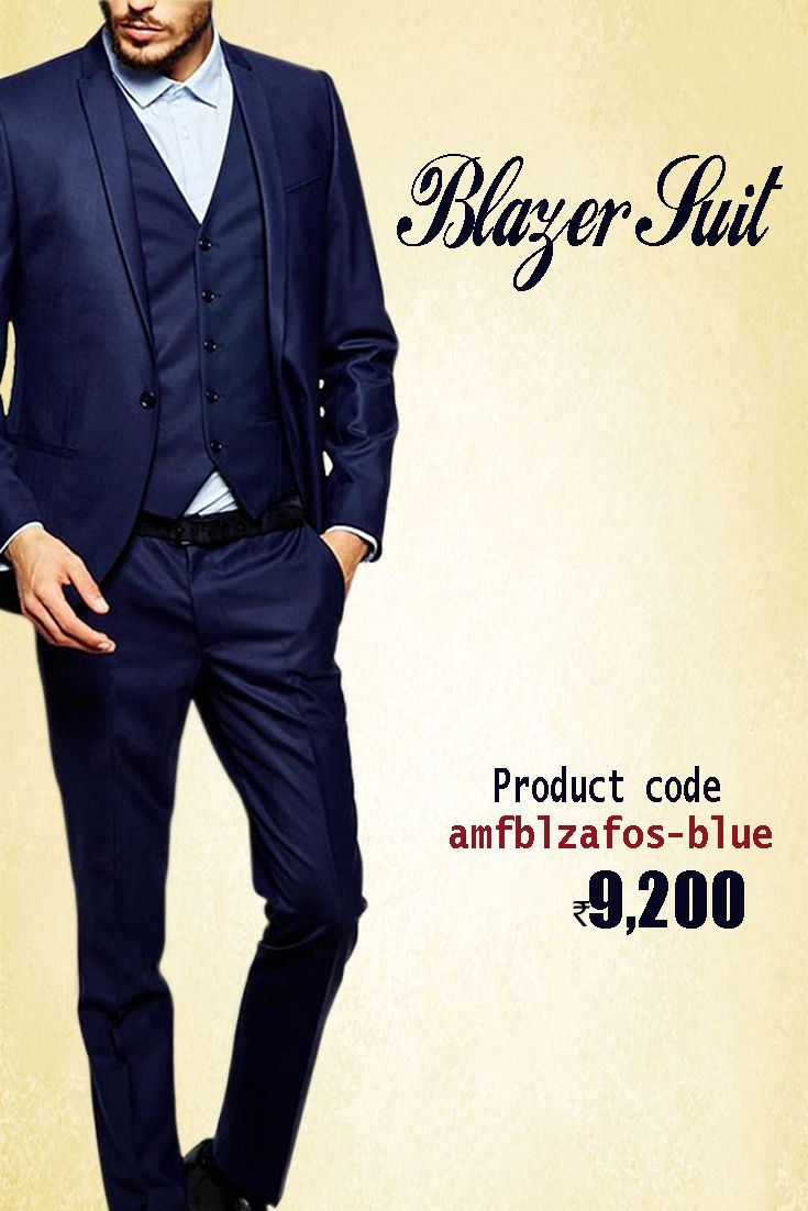 Blue Readymade #BlazerSuit Simple yet elegant #partywear Blazer Suit which is Featuring fine Button Work. Grab  this offer only from the house of #Amafhh. #indowestern #menswear #stylish #fashion #onlineshopping #mensweddingwear #onlineweddingwear #groomswear #discount #buyonline  #latestcollection #blazer #designerblazer #thechoiceisyours