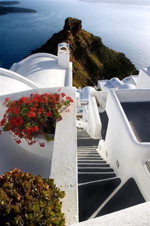 Endless stairways -village of Imerovigli,Santorini
