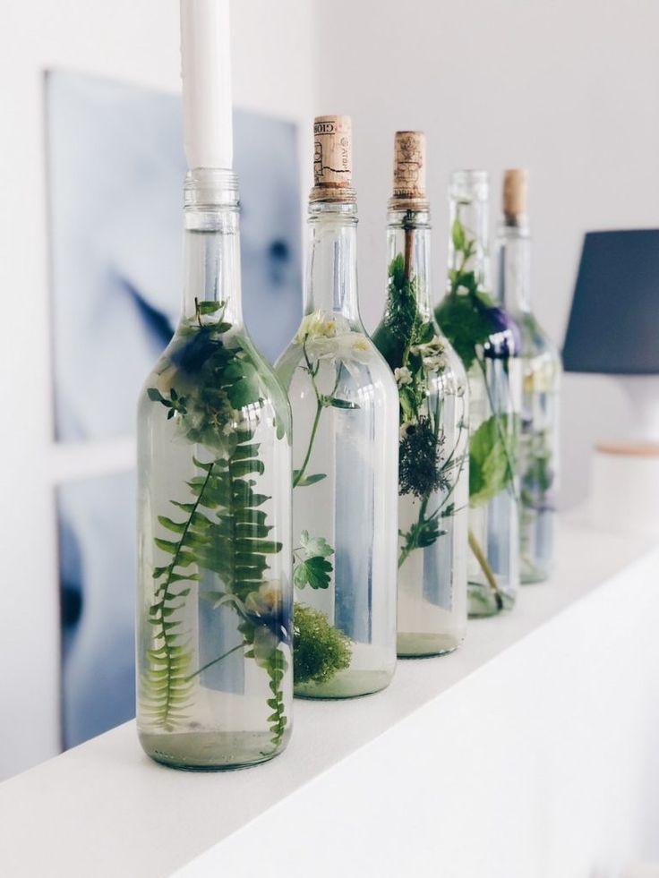 عکس ایده تزئینی با استفاده از شیشه های بازیافتی