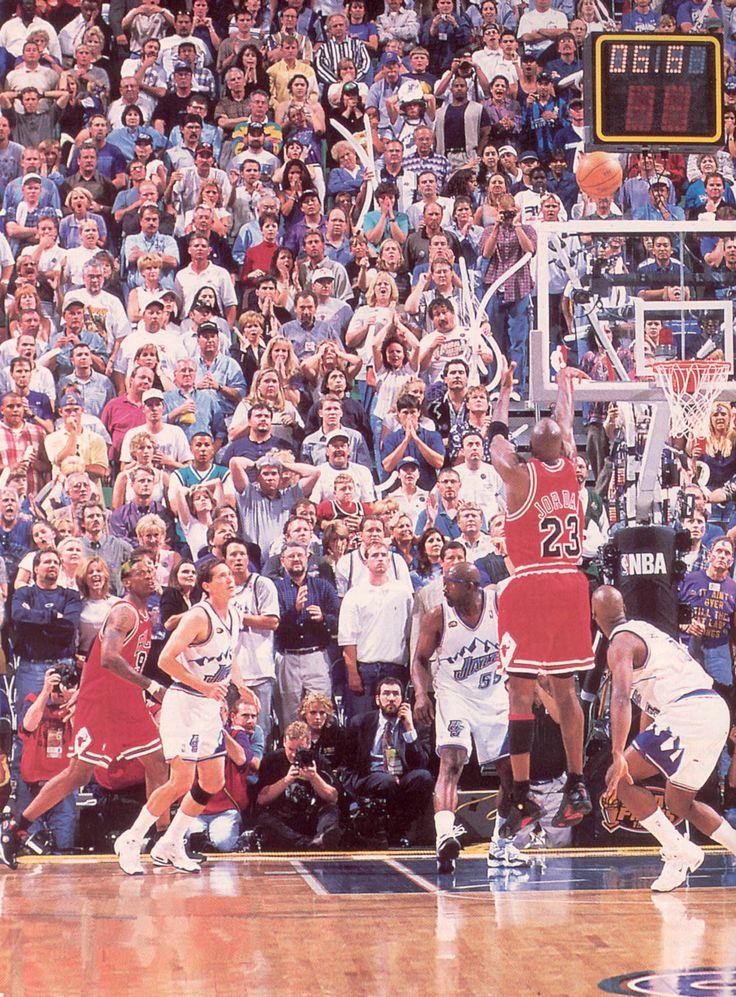 Michael Jordan championship game-winning shot against Utah Jazz in Game 6 of 1998 NBA finals