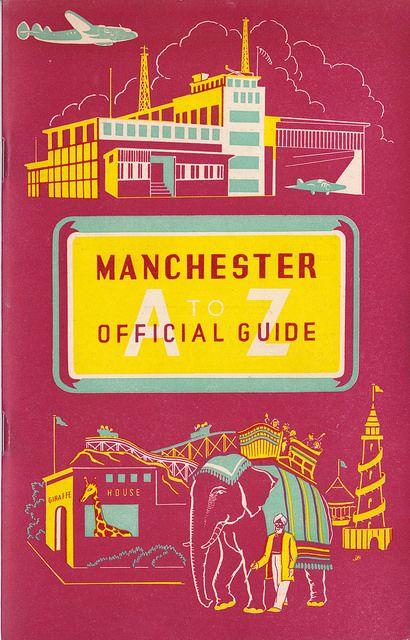 Fiel seguidor del MUFC: Manchester A to Z official guide (c. 1952), de la mano de Mikey Ashworth.