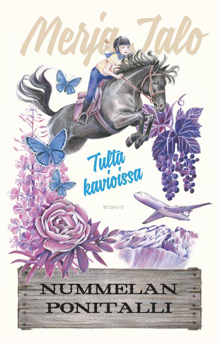 Nummelan ponitalli. Tulta kavioissa. Merja Jalo  Cover illustration Oili Kokkonen Cover and new series identity Riikka Turkulainen