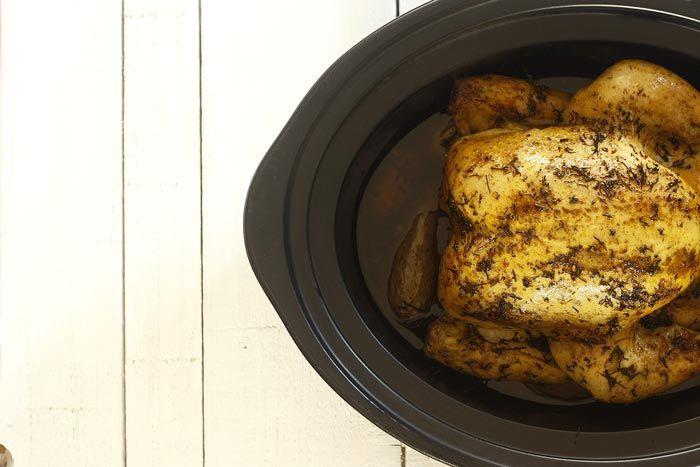 Pollo asado. Receta para Crock Pot