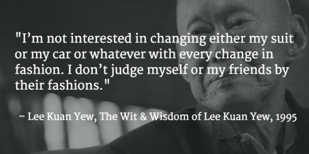 Lee Kuan Yew's thoughts and sayings (Background photo: Associated ...