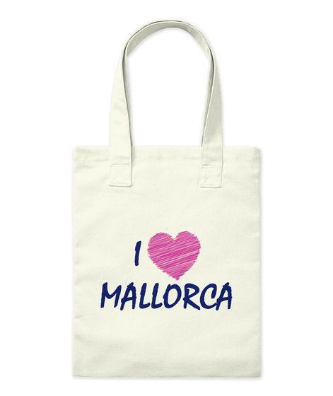 I Heart Mallorca Natural Tote Bag Front