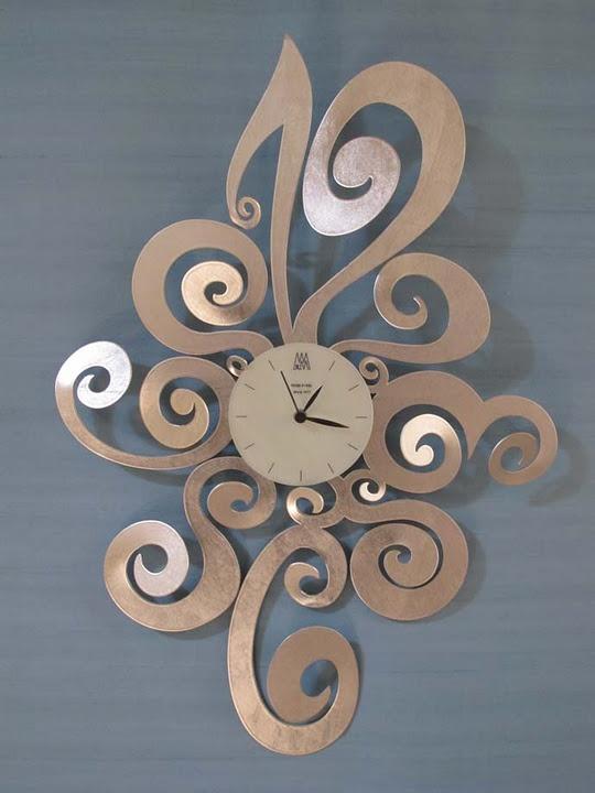 Lovely swirly wall clock #decor #wall #clock #design